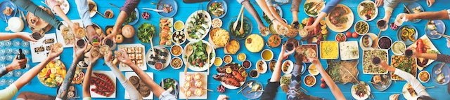 healthy foods on a table to improve heart health